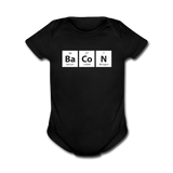"""BaCoN"" - Baby Short Sleeve One Piece black / Newborn - LabRatGifts - 1"