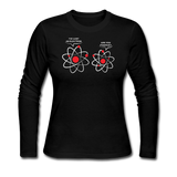 """I've Lost an Electron"" - Women's Long Sleeve T-Shirt black / S - LabRatGifts - 3"