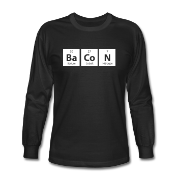 """BaCoN"" - Men's Long Sleeve T-Shirt black / S - LabRatGifts - 1"