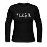 """I Ate Some Pie"" (white) - Women's Long Sleeve T-Shirt black / S - LabRatGifts - 2"