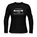 """I Found this Humerus"" - Women's Long Sleeve T-Shirt black / S - LabRatGifts - 4"