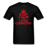 """Keep Calm and Love Chemistry"" (red) - Men's T-Shirt black / S - LabRatGifts - 13"