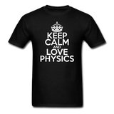 """Keep Calm and Love Physics"" (white) - Men's T-Shirt black / S - LabRatGifts - 11"