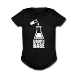 """Drop the Base"" - Baby Short Sleeve One Piece black / Newborn - LabRatGifts - 4"
