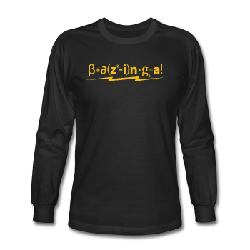 """Bazinga!"" - Men's Long Sleeve T-Shirt black / S - LabRatGifts - 1"