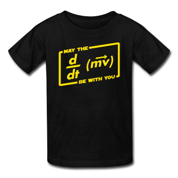 """May the Force Be With You"" - Kids' T-Shirt black / XS - LabRatGifts - 1"