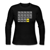 """Na Na Na Batmanium"" - Women's Long Sleeve T-Shirt black / S - LabRatGifts - 1"