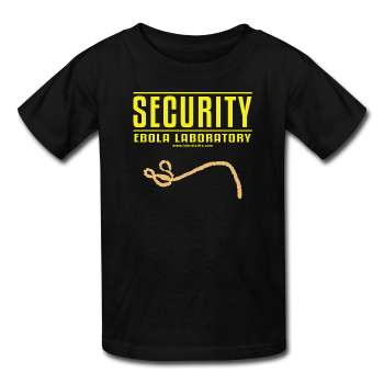 """Security Ebola Laboratory"" - Kids' T-Shirt black / XS - LabRatGifts - 1"