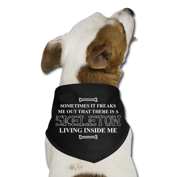 """Skeleton Inside Me"" - Dog Bandana black / One size - LabRatGifts"
