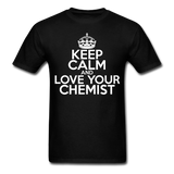 """Keep Calm and Love Your Chemist"" (white) - Men's T-Shirt black / S - LabRatGifts - 11"
