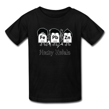 """Heavy Metals"" - Kids' T-Shirt black / XS - LabRatGifts - 1"