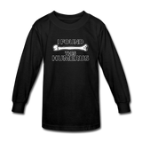 """I Found this Humerus"" - Kids' Long Sleeve T-Shirt black / XS - LabRatGifts - 4"