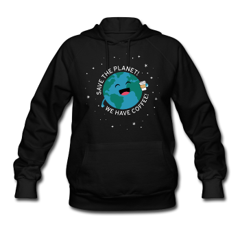 """Save the Planet"" - Women's Sweatshirt black / S - LabRatGifts - 1"