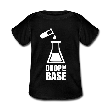 """Drop the Base"" - Baby Lap Shoulder T-Shirt black / Newborn - LabRatGifts - 1"