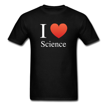 """I ♥ Science"" (white) - Men's T-Shirt black / S - LabRatGifts - 1"