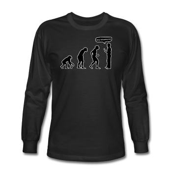"""Stop Following Me"" - Men's Long Sleeve T-Shirt black / S - LabRatGifts - 1"