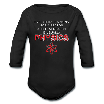 """Everything Happens for a Reason"" - Baby Long Sleeve One Piece black / 6 months - LabRatGifts - 1"