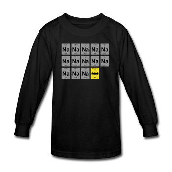 """Na Na Na Batmanium"" - Kids' Long Sleeve T-Shirt black / XS - LabRatGifts - 1"