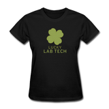 """Lucky Lab Tech"" - Women's T-Shirt black / S - LabRatGifts - 9"