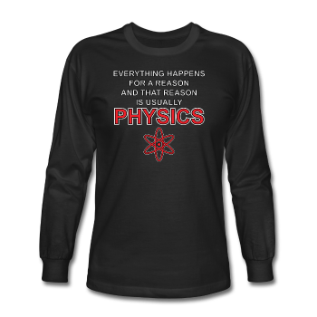 """Everything Happens for a Reason"" - Men's Long Sleeve T-Shirt black / S - LabRatGifts - 1"