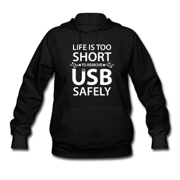 """Life is too Short"" (white) - Women's Sweatshirt black / S - LabRatGifts - 1"