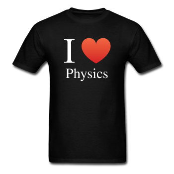"""I ♥ Physics"" (white) - Men's T-Shirt black / S - LabRatGifts - 1"