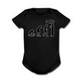 """Stop Following Me"" - Baby Short Sleeve One Piece black / Newborn - LabRatGifts - 5"