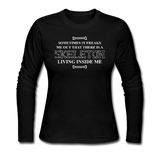 """Skeleton Inside Me"" - Women's Long Sleeve T-Shirt black / S - LabRatGifts - 1"