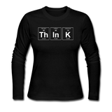 """ThInK"" (white) - Women's Long Sleeve T-Shirt black / S - LabRatGifts - 1"