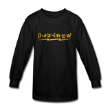 """Bazinga!"" - Kids' Long Sleeve T-Shirt black / XS - LabRatGifts - 4"