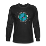 """Save the Planet"" - Men's Long Sleeve T-Shirt black / S - LabRatGifts - 2"