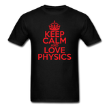 """Keep Calm and Love Physics"" (red) - Men's T-Shirt black / S - LabRatGifts - 13"