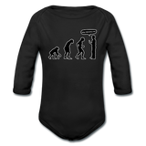 """Stop Following Me"" - Baby Long Sleeve One Piece black / 6 months - LabRatGifts - 4"