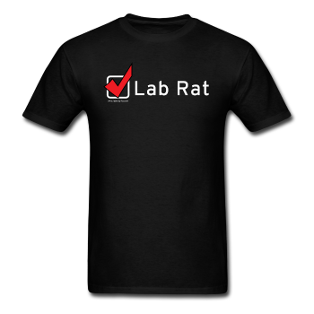"""Lab Rat, Check"" - Men's T-Shirt black / S - LabRatGifts - 1"