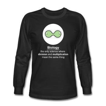 """Biology Division"" - Men's Long Sleeve T-Shirt black / S - LabRatGifts - 1"