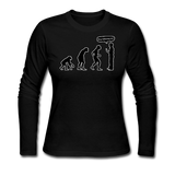 """Stop Following Me"" - Women's Long Sleeve T-Shirt black / S - LabRatGifts - 4"