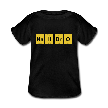 """Nah BrO"" - Baby Lap Shoulder T-Shirt black / Newborn - LabRatGifts - 1"