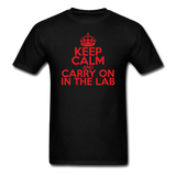 """Keep Calm and Carry On in the Lab"" (red) - Men's T-Shirt black / S - LabRatGifts - 13"