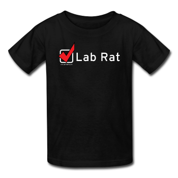 """Lab Rat, Check"" - Kids' T-Shirt black / XS - LabRatGifts - 1"