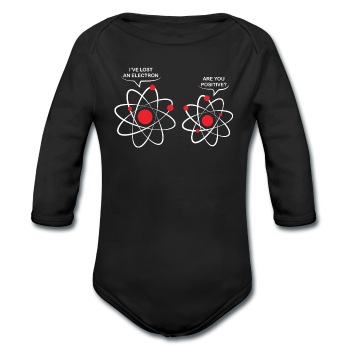 """I've Lost an Electron"" - Baby Long Sleeve One Piece black / 6 months - LabRatGifts"