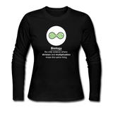"""Biology Division"" - Women's Long Sleeve T-Shirt black / S - LabRatGifts - 1"