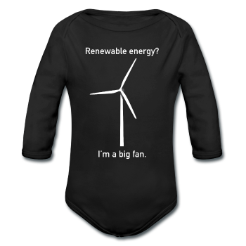 """I'm a Big Fan"" - Baby Long Sleeve One Piece black / 6 months - LabRatGifts - 1"