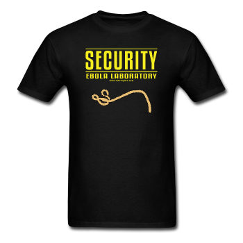 """Security Ebola Laboratory"" - Men's T-Shirt black / S - LabRatGifts - 1"