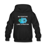 """Be Positive"" (white) - Kids' Sweatshirt black / S - LabRatGifts - 2"