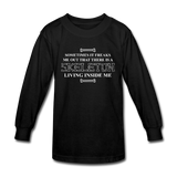 """Skeleton Inside Me"" - Kids' Long Sleeve T-Shirt black / XS - LabRatGifts - 1"