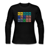 """Lady Gaga Periodic Table"" - Women's Long Sleeve T-Shirt black / S - LabRatGifts - 4"