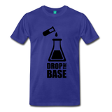 """Drop the Base"" (black) - Men's T-Shirt royal blue / S - LabRatGifts - 5"