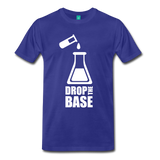 """Drop the Base"" (white) - Men's T-Shirt royal blue / S - LabRatGifts - 5"