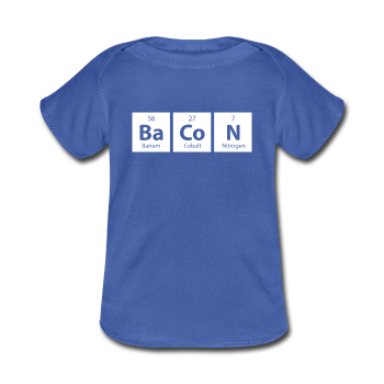 """BaCoN"" - Baby Lap Shoulder T-Shirt royalblue / Newborn - LabRatGifts - 1"