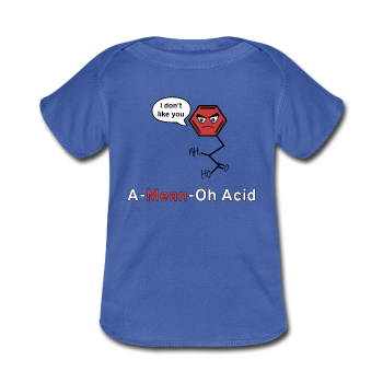 """A-Mean-Oh Acid"" - Baby Lap Shoulder T-Shirt royalblue / Newborn - LabRatGifts - 1"